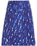Balenciaga Graphic-Print Silk Skirt - Lyst