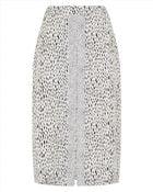Jaeger Dot Dash Print Skirt - Lyst