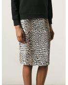 Rika Leopard Print Pencil Skirt - Lyst