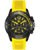 Lacoste Men'S Chronograph Fidji Yellow Silicone Strap Watch 46Mm 2010739 - Lyst