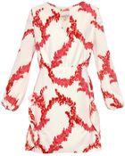 Giambattista Valli Floral Garland-Print Cady Dress - Lyst