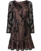 Karen Millen Cluster Sequin Dress - Lyst