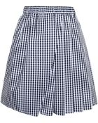 No 21 Pleated Check Mini Skirt - Lyst