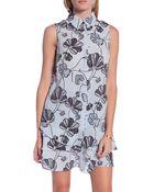 10 Crosby Derek Lam Floral Shirt Dress - Lyst