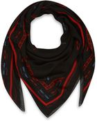 McQ by Alexander McQueen Black and Red Razor Blade Print Modal Scarf - Lyst