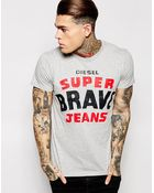 Diesel T-Shirt T-Asterios Super Brave Print - Lyst
