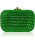 Judith Leiber Crystal Slide-Lock Clutch Bag - Lyst
