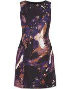 Karen Millen Modern Marble Print Dress - Lyst