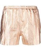 RED Valentino Metallic Shorts - Lyst