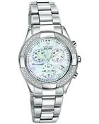 Citizen Women'S Chronograph Regent Eco-Drive Diamond Accent Stainless Steel Bracelet Watch 30Mm Fb1220-53D - Lyst