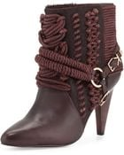 Ivy Kirzhner Chile Leather Rope Calf Hair Bootie - Lyst