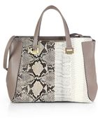 Jimmy Choo Alfie Medium Python-Embossed Tote - Lyst