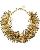 J.Crew Fireburst Gold-Tone Beaded Necklace - Lyst
