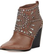 BCBGMAXAZRIA Creed Studded Ankle Boot - Lyst