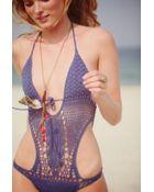 Lisa Maree Crochet Monokini - Lyst