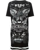 Diesel Black Gold Printed T-Shirt Dress - Lyst