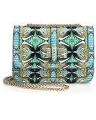 Christian Louboutin Sweet Charity Multicolor Abstract Python Shoulder Bag - Lyst