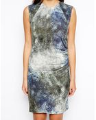 By Zoé Printed Dress In Marine Snake Print - Lyst