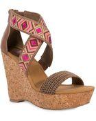 The Sak Mason Cork Wedge Sandals - Lyst