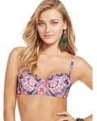 Becca Printed Underwire Bikini Top - Lyst