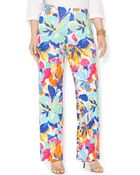 Lauren by Ralph Lauren Plus Size Floral-Print Wide-Leg Pants - Lyst