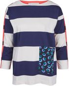 Stella McCartney White Rugby Stripe Pocket T-Shirt - Lyst