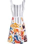 Karen Millen Cotton Floral Print Dress - Lyst