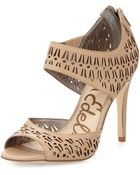 Sam Edelman Alva Leather High-Heel Ankle-Wrap Pump - Lyst