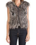 Twelfth Street Cynthia Vincent Faux Fur Vest - Lyst