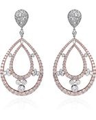 Kwiat 18K White And Rose Gold And Diamond Oval Drop Earrings - Lyst