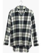 Madewell Flannel Oversized Boyshirt In Lamont Plaid - Lyst