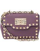 Valentino Rockstud Small Chain Flap Bag - Lyst