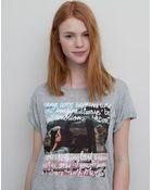 Pull&Bear Printed T-Shirt - Lyst