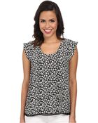 Rebecca Taylor Short Sleeve Lena Leopard Top - Lyst