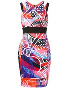 Emilio Pucci Abstract Print Shift Dress - Lyst