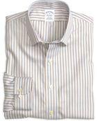 Brooks Brothers Noniron Slim Fit Multistripe Sport Shirt - Lyst