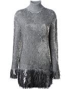 McQ by Alexander McQueen Sequinned Knit Dress - Lyst