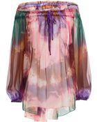 Emilio Pucci Printed Silk Chiffon Blouse - Lyst