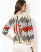 Ralph Lauren Lauren Intarsia Knit Sweater - Lyst