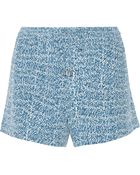 Vince Printed Silk Shorts - Lyst