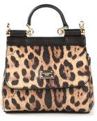 Dolce & Gabbana Animal Print Cross Body Bag - Lyst