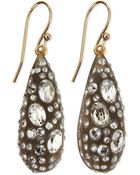 Alexis Bittar Crystal Dusted Dewdrop Earrings - Lyst