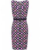 Milly Sheath Print Dress - Lyst