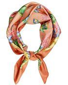 Brooks Brothers Floral Scarf Orange - Lyst