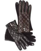 Lauren by Ralph Lauren Qulited Hybrid Touch Gloves - Lyst