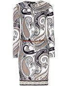 Etro Printed Stretch Dress - Lyst