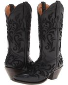 Stetson Lace Underlay Boot - Lyst