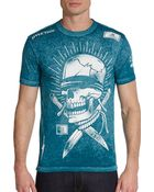 Affliction See No Evil Graphic Tee - Lyst
