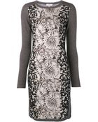 Paul Smith Front Flower Print Dress - Lyst
