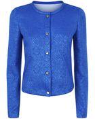 Armani Jeans Textured Jacquard Jacket - Lyst